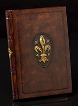 Fleur-de-Lis Italian Leather Journal