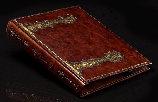 Italian Leather Medieval Lance 3-Ring Binder