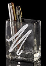 Silver Expression Pen Holder