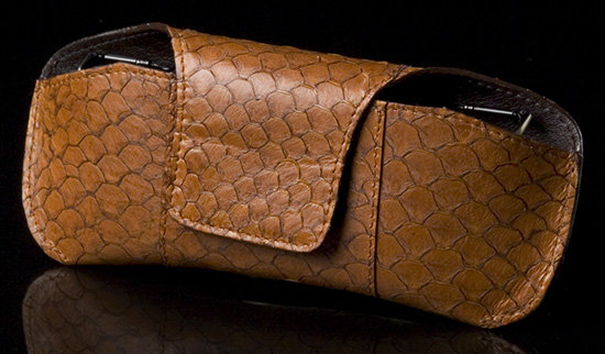 Brown Sea Leather English Style Eyeglass Holder