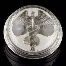 Caduceus Mirrored Paperweight