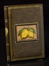 Limoni Italian Leather Recipe Book