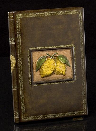 Limoni Italian Leather Recipe Book