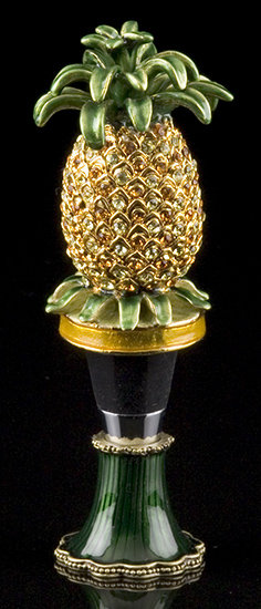 Jeweled Pineapple Bottle Stopper
